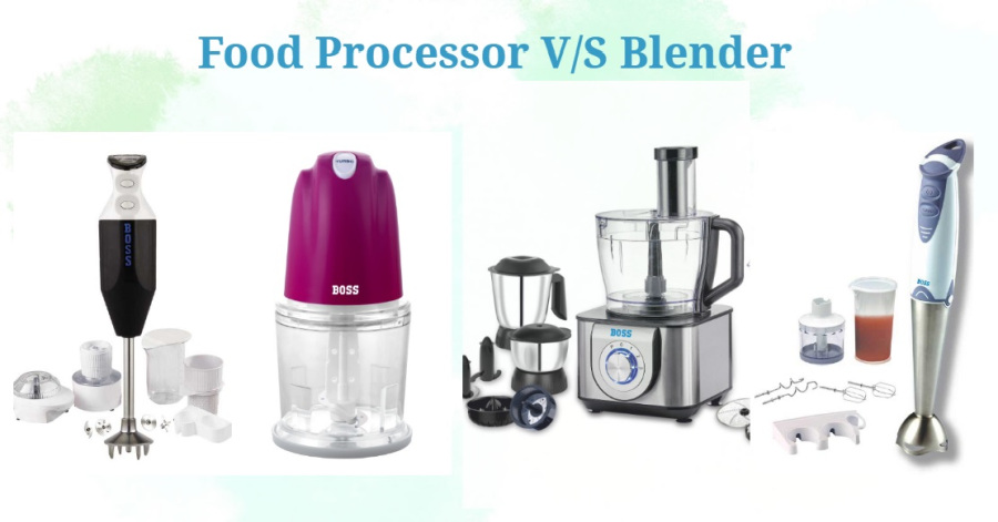 food processor vs blender vs hand blender