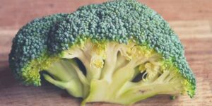 Broccoli and Broccoli stems in juicer