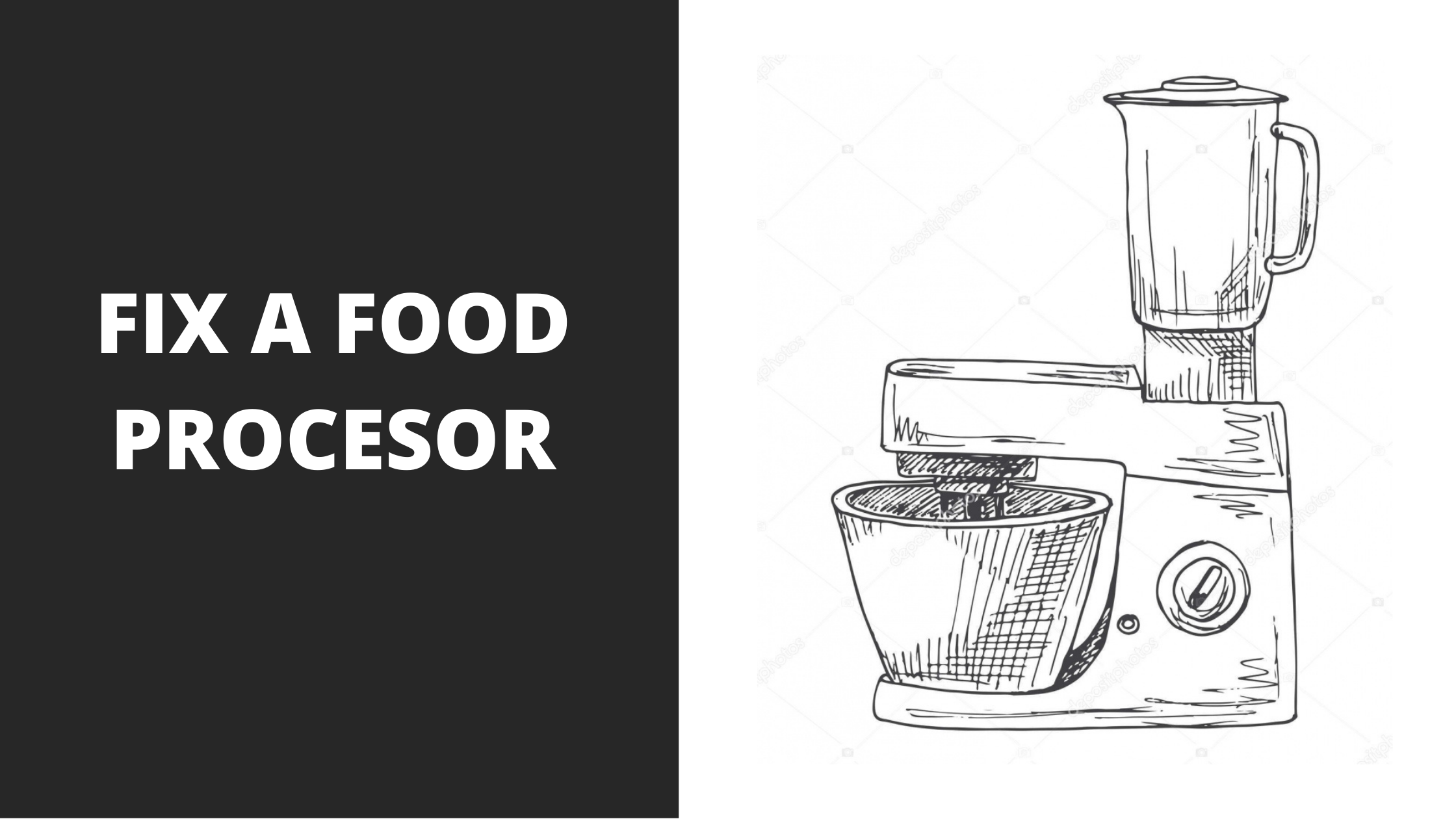 how to repair a food processor