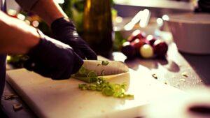 adding-vegetables in food processor